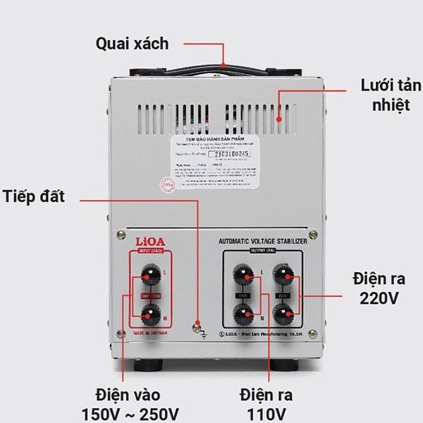 Cách lắp đặt ổn áp LiOA SH-7500II