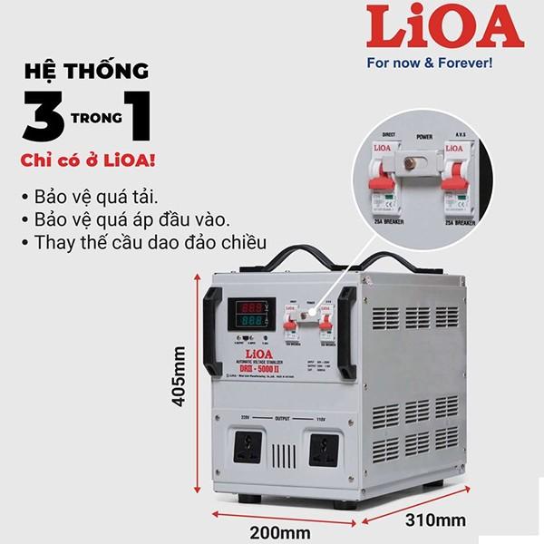 Đặc điểm ổn áp LiOA 5KVA dải 50V