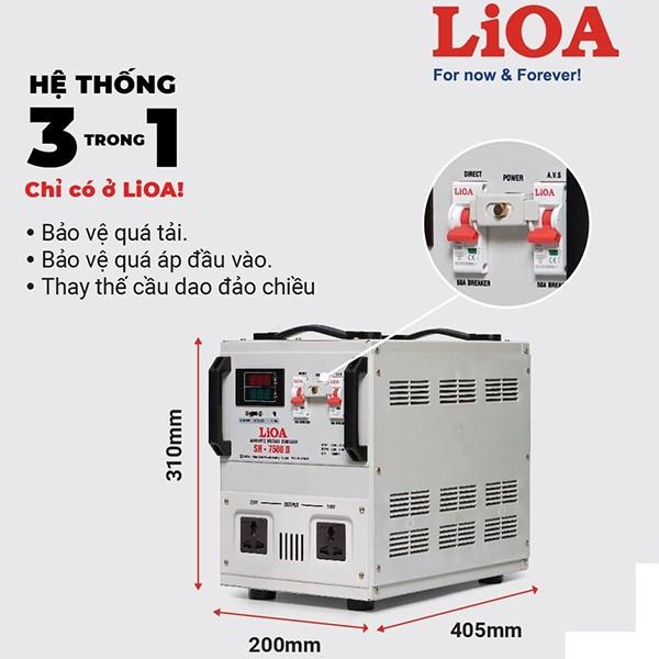 Đặc điểm ổn áp LiOA SH-7500II