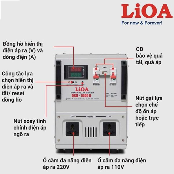 Hướng dẫn sử dụng ổn áp LiOA 5KVA dải 50V
