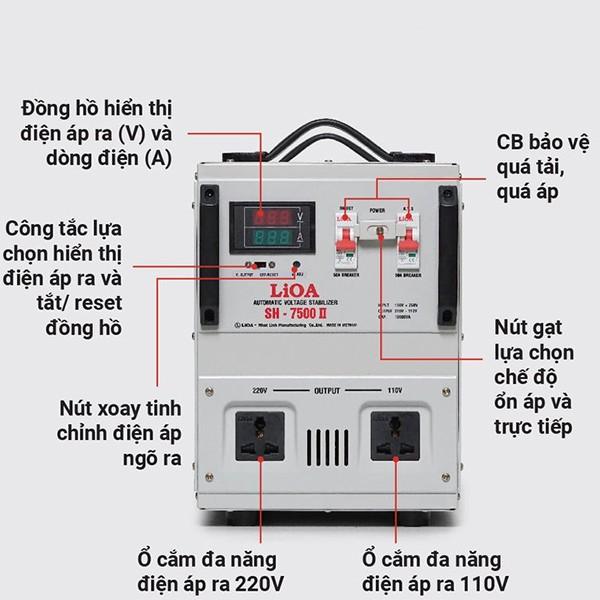 Hướng dẫn sử dụng ổn áp LiOA SH-7500II