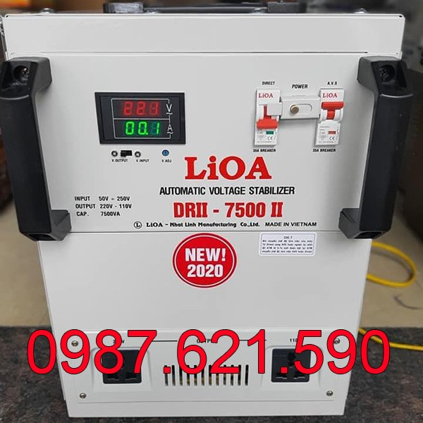 Ổn áp Lioa 7,5KVA DRII-7500 II