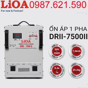 Ổn áp LiOA 7.5KVA dải 50V