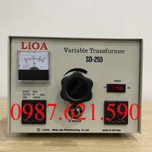 Biến áp vô cấp 1 pha Lioa SD-255