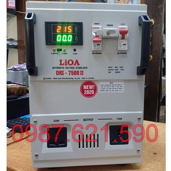Ổn áp Lioa 7,5KVA DRI-7500 II