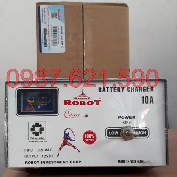 Nạp ắc quy Robot 10A