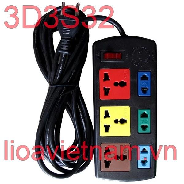 Ổ cắm Lioa 6 lỗ 3D3S32