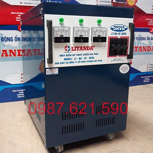 Biến áp 3 pha 380V/ 220V 3KVA 2