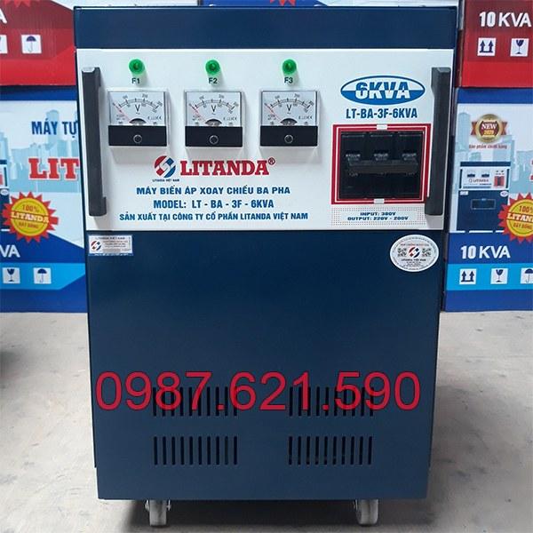 Biến áp 3 pha 380V/ 220V 6KVA