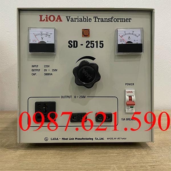 Biến áp vô cấp 1 pha Lioa SD-2515