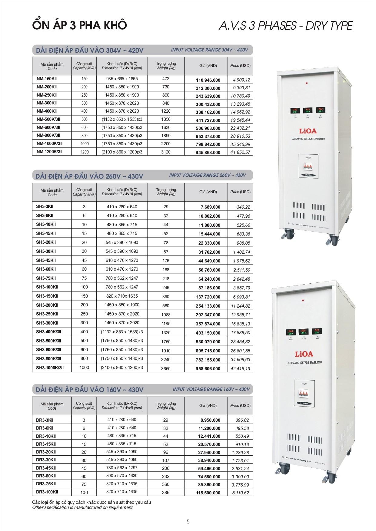 Bang gia LiOA page 0005