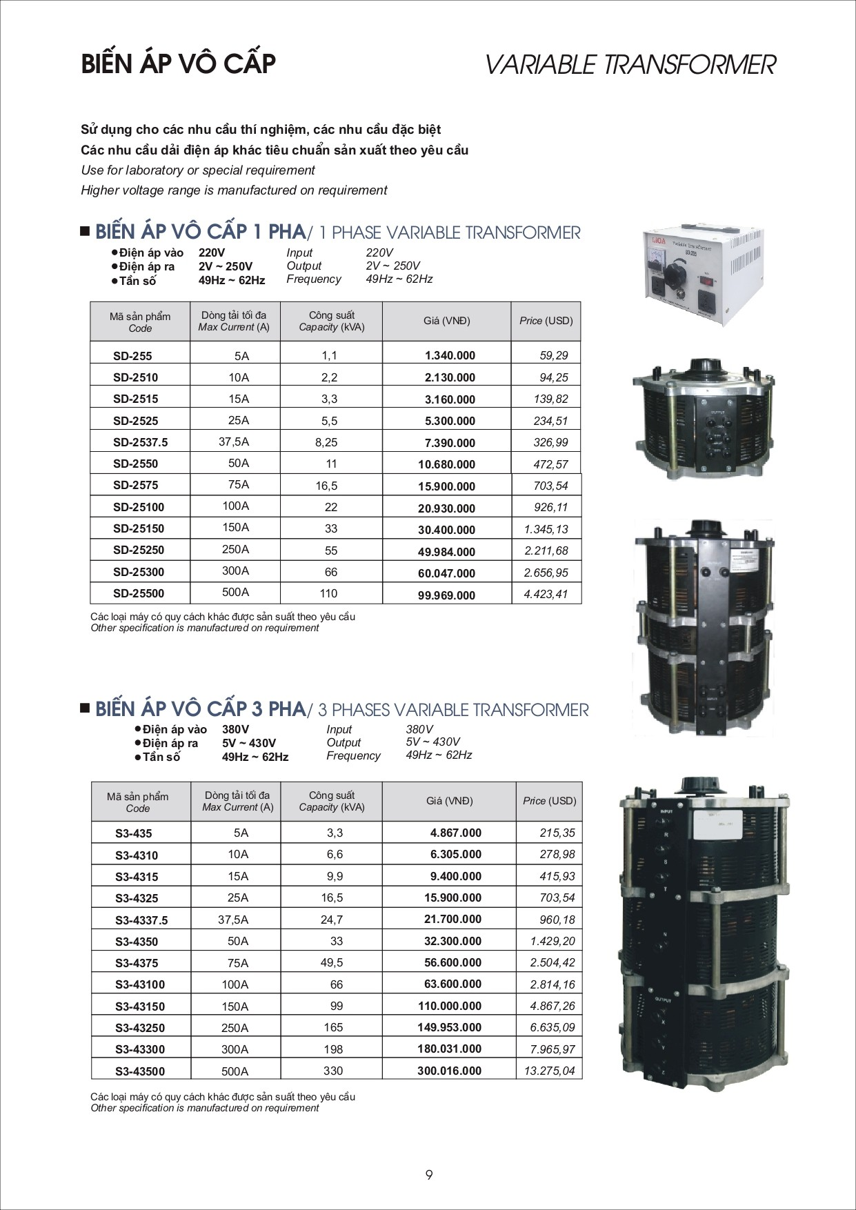 Bang gia LiOA page 0009