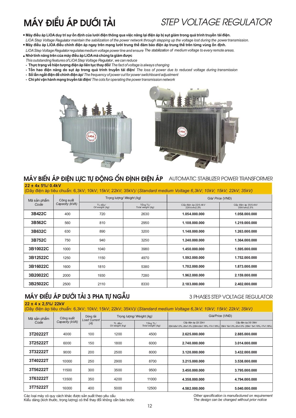 Bang gia LiOA page 0012